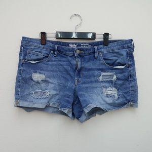Mossimo Women's Jean Shorts Mid-Rise Midi Size 16